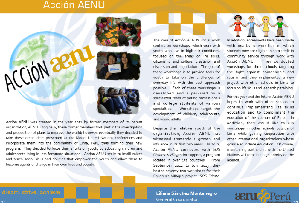 Acción AENU letter